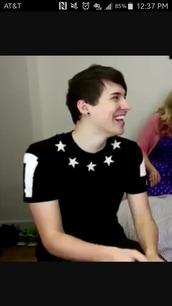 shirt,danisnotonfire,dan howell,black,aesthetic,aesthetic shirt,dan and phil,phan