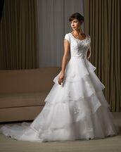 dress,bonny wedding dress,organza wedding dress,cap sleeve wedding dress,fashion dress