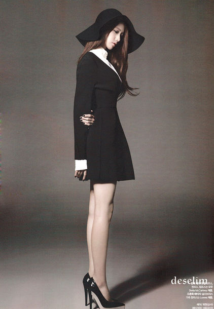 dress yoona snsd black dress