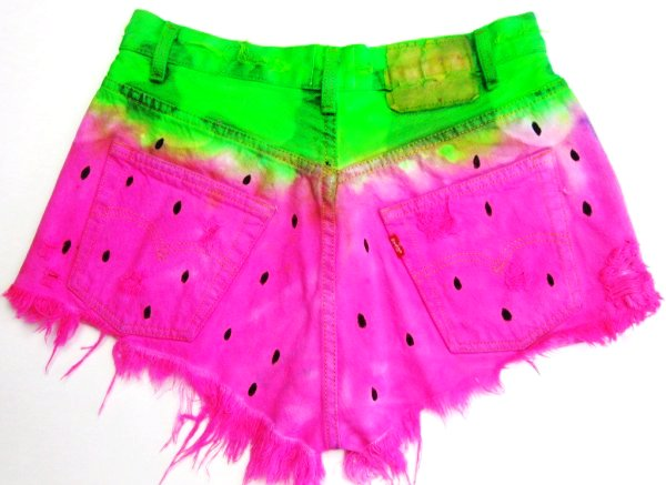 Dye High Waisted Cut Off Shorts - Colorful Tie Dye High Waisted ...