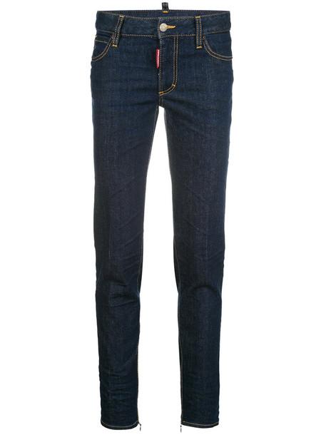 Dsquared2 jeans women spandex cotton blue