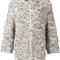 Brunello cucinelli zip up cardigan, women's, size: medium, nude/neutrals, silk/polyamide/cashmere