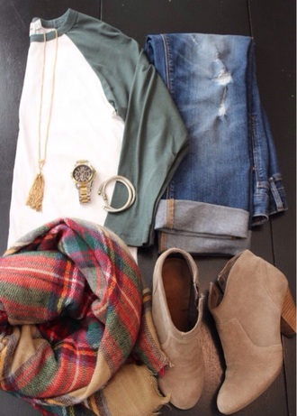 shirt trendy shirts casual scarf jeans shoes