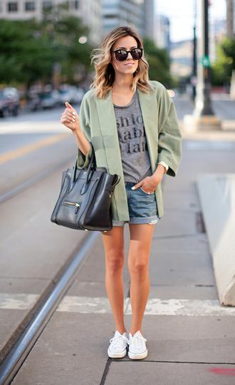 hello fashion t-shirt jacket jewels bag sunglasses jeans