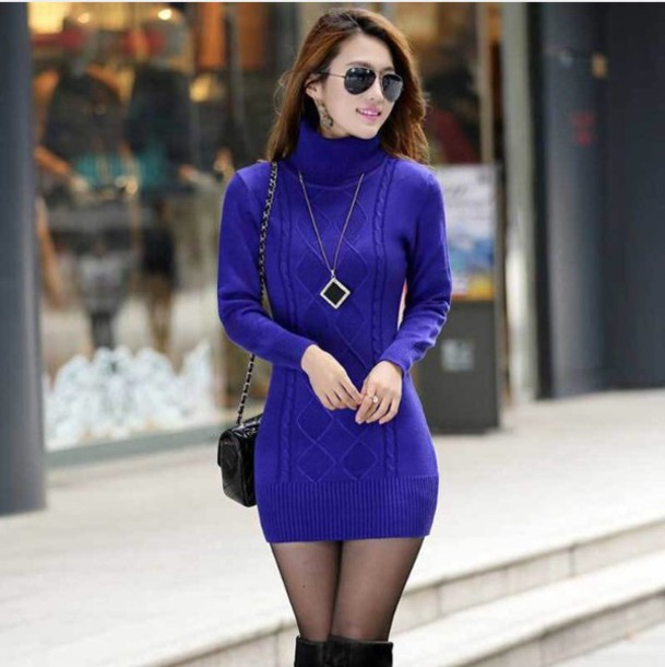 drop shipping sale online select for best Royal Blue Knit Dress – Fashion dresses