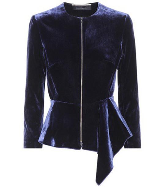 Roland Mouret jacket velvet blue