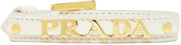 Prada white jewels