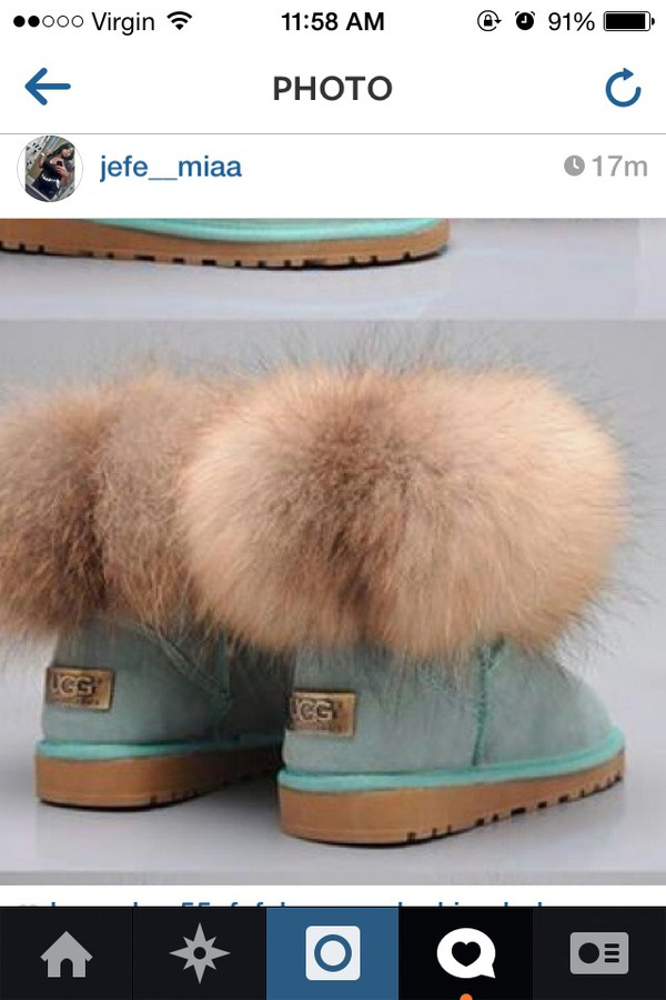 ugg boots fluffy furry boots shoes
