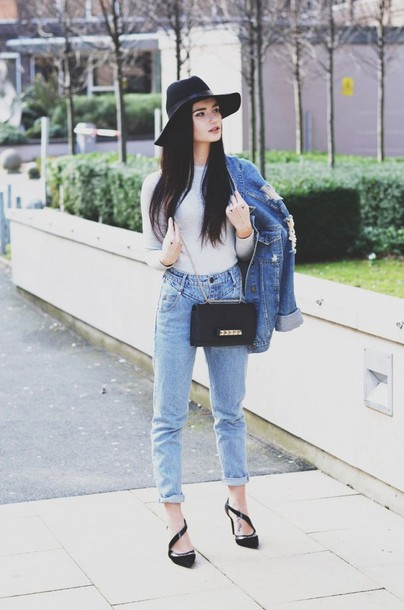 lolita mas blogger sweater jeans hat jacket shoes bag