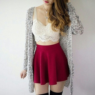 skirt fashion tank top