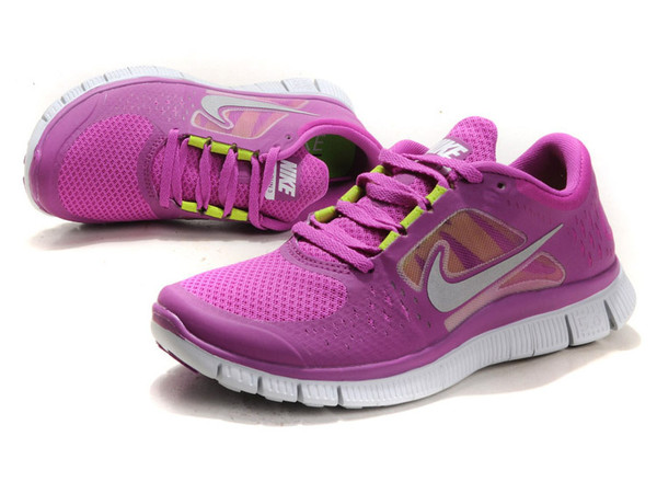 shoes sneakers nike nike free run purple