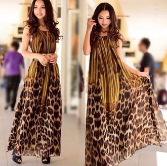 dress brown flow