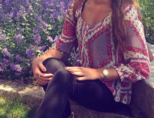 shirt blouse top cute style fashion toast summer top tunic long sleeves pattern