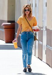 jeans,top,crop tops,denim,lucy hale,streetstyle,celebrity,spring outfits