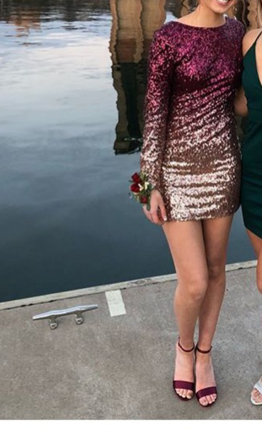 dress sequin dress red dress homecoming dress