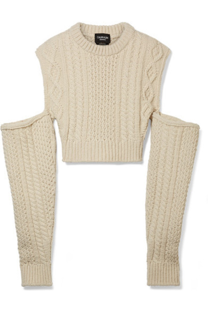 sweater cropped cold wool knit