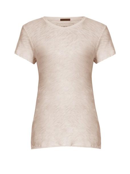 ATM t-shirt shirt t-shirt cotton light pink light pink top
