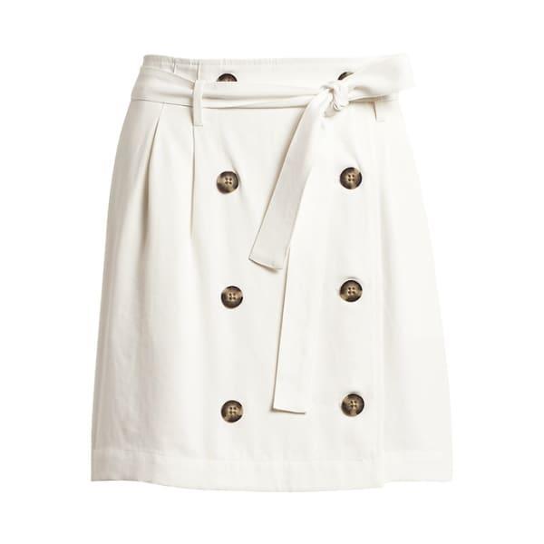Banana Republic Women's Paperbag-Waist Skirt White Big And Tall Size 4