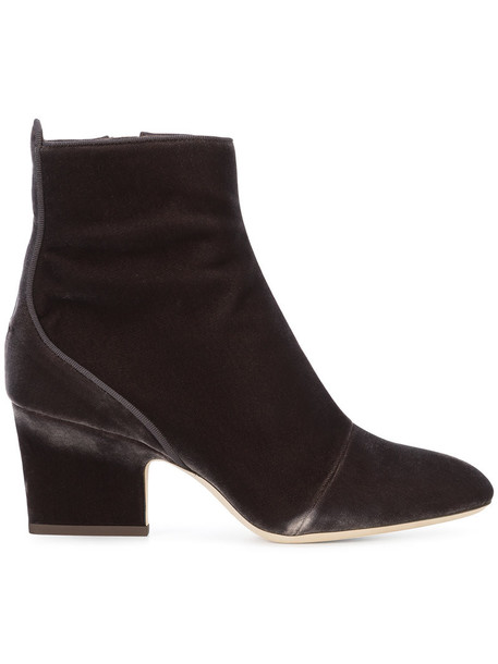 Jimmy Choo women leather silk velvet brown shoes