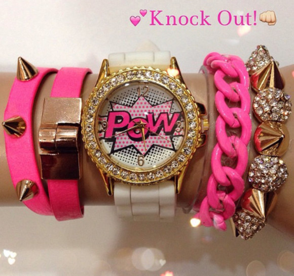 jewels watch pow comic comic watch blouse