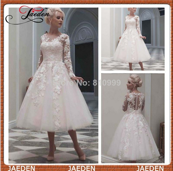 a-line wedding dresses long sleeves prom dress tulle wedding dress lace wedding dress short dress woman dress vintage wedding dress vintage dress