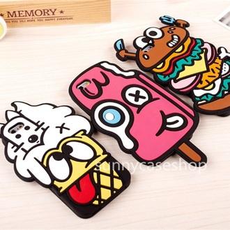 phone cover iphone 6s plus cases 3d phone food ice cream hamburger