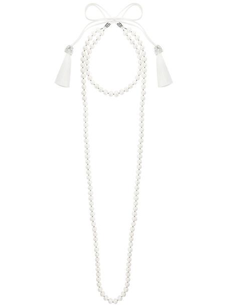 Night Market long women pearl necklace white jewels