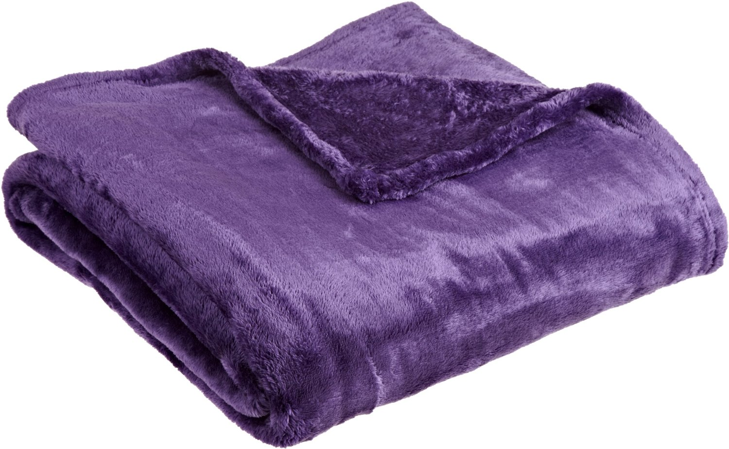 com - Northpoint Cashmere Plush Velvet Throw, Purple - Throw Blankets
