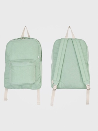 bag pastel pale aqua backpack canvas backpack pastel bag tumblr tumblr outfit tumblr girl turquoise tumblr fashion grunge grunge wishlist alternative american apparel green back to school