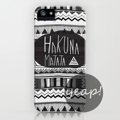 """hakuna matata"" iphone case cover (iphone 5/ iphone 6) – glamzelle"