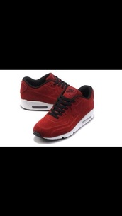 shoes,air maxes,burgundy,white,nike,red,sneakers,suede,black,velvet