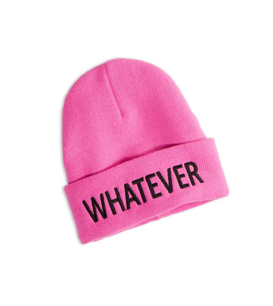 AEO Whatever Beanie, Neon Magenta   American Eagle Outfitters