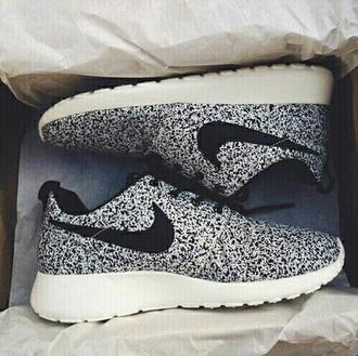 shoes black white nike shoes dots