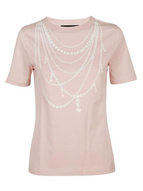BOUTIQUE MOSCHINO t-shirt shirt t-shirt pink top