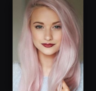 hair accessory pastel pink hair permanent