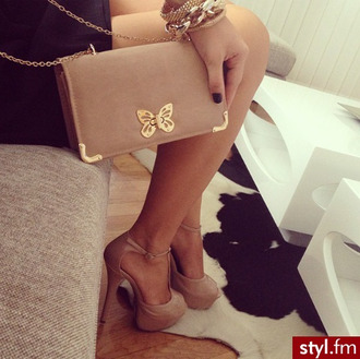 bag nude butterfly