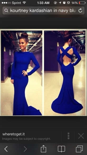 royal blue dress blue backless dress
