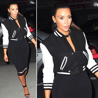 jacket kim kardashian varsity jacket