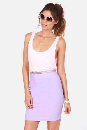 Cute Lavender Skirt - Pencil Skirt - $34.00