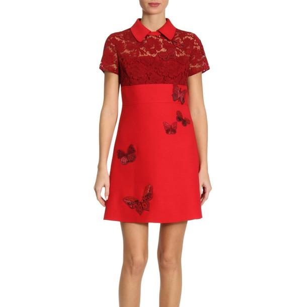 Valentino dress women red