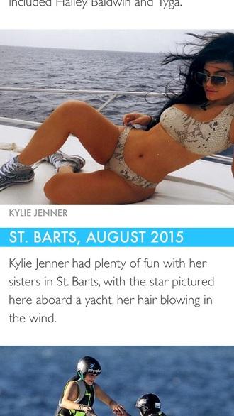 swimwear snake print bikini kylie jenner