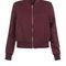 Petite burgundy sateen bomber jacket