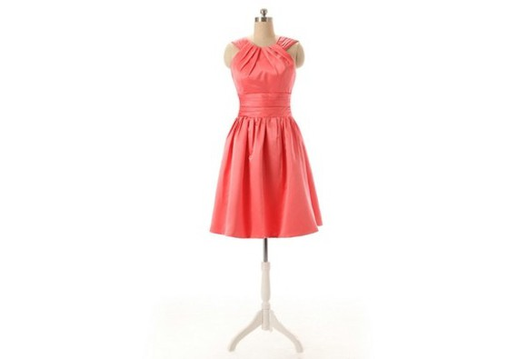 dress pleated dress halter dress halter top coral dress short party dresses short bridesmaid dress