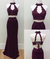 dress,purple,lace,two-piece,sparkly dress