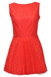dress,red,red dress,lace,aline