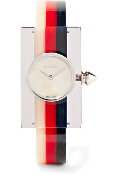gucci watch silver navy jewels