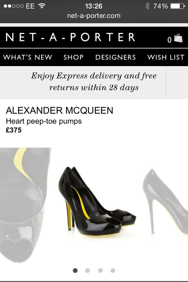 Alexander mcqueen heart peep toe court shoes black 39.5 6.5 £375 mcq