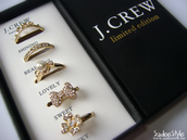 jewels,ring,gold,j crew,bow,flowers