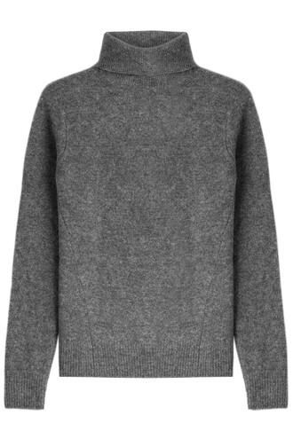 turtleneck wool grey sweater