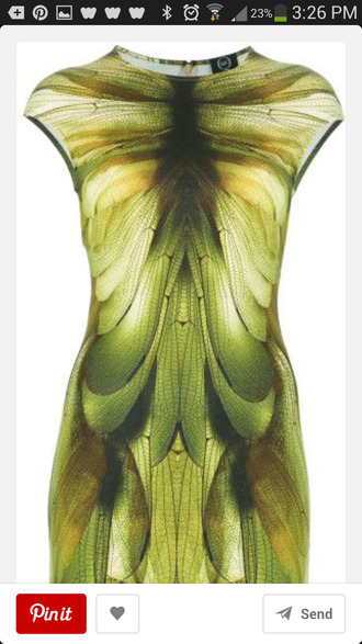 dress alexander mcqueen green dress